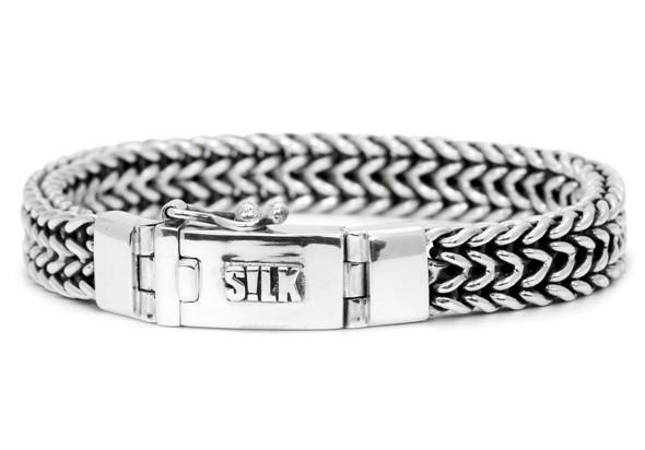 SILK Jewellery Armband zilver Vishnu 21 cm 143