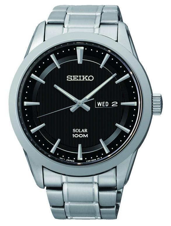 Seiko SNE363P1 Heren solar horloge