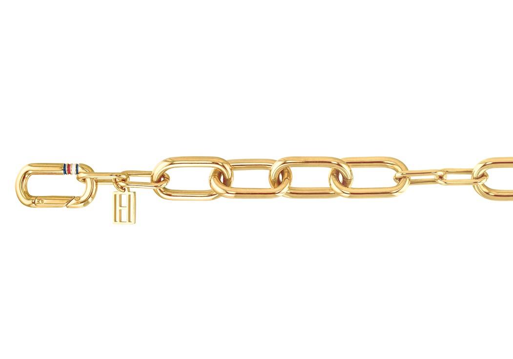 Tommy Hilfiger TJ2780188 Armband goudkleurig 17-21 cm