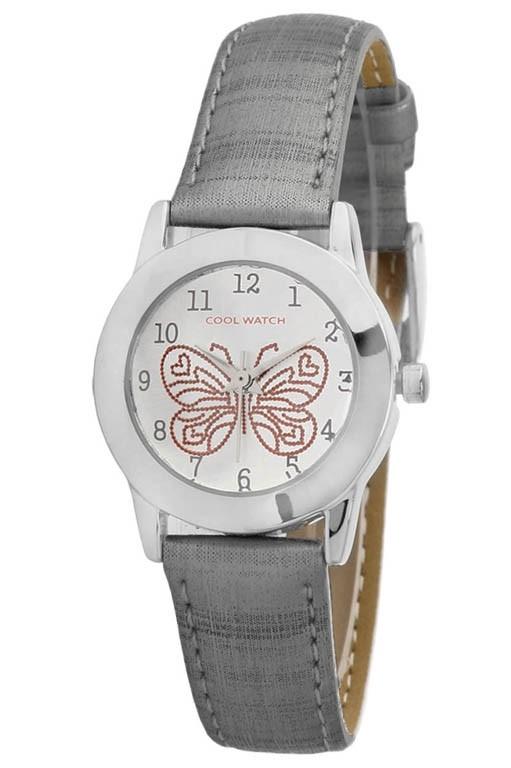 Coolwatch kinderhorloge Butterfly zilvergrijs CW.186