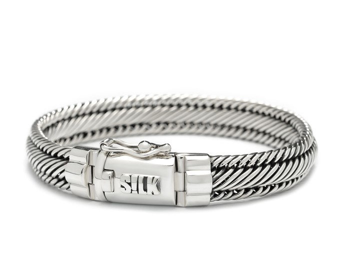 SILK Jewellery Armband zilver 'Madonna' 19 cm 731