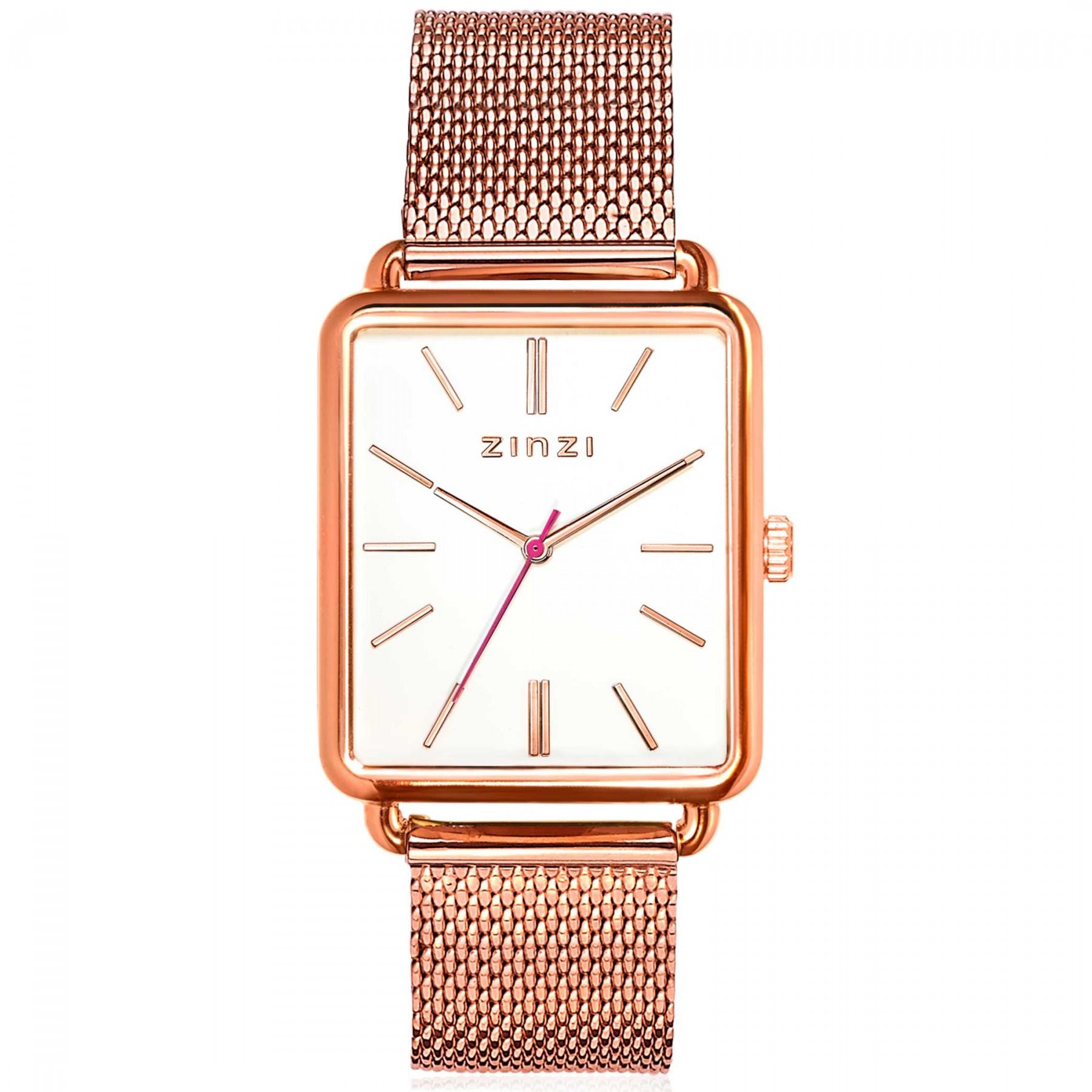 Zinzi ZIW908M Horloge Vintage Retro + gratis armband 34 mm rosekleurig
