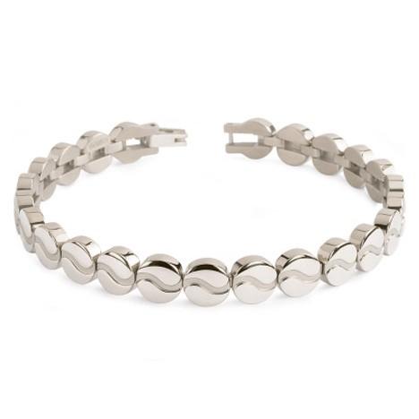 Boccia 03023-01 Armband titanium zilverkleurig 20 cm
