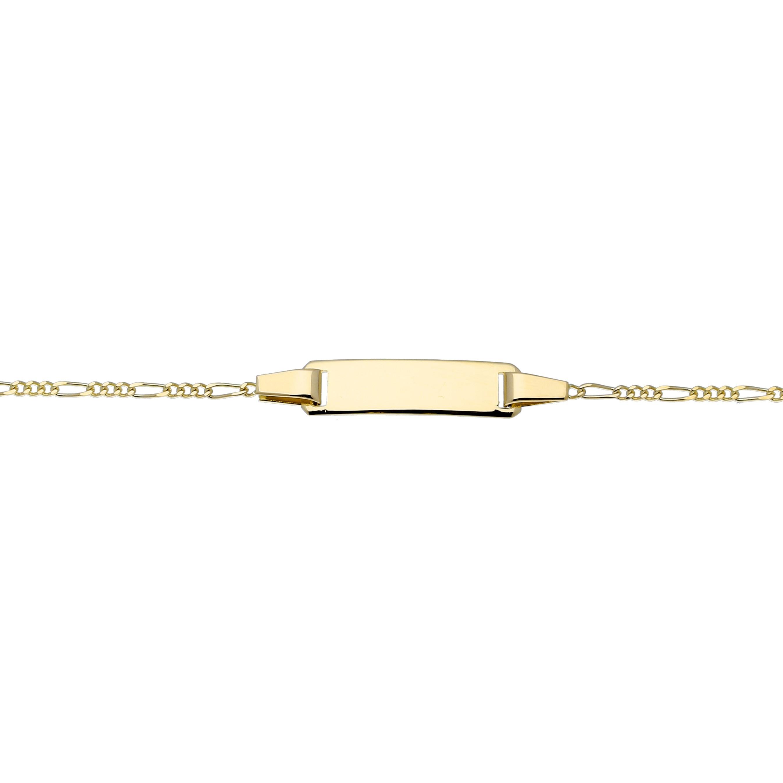 Glow Gouden Kinderplaatarmband - 10-12 Cm Figaro  204.0553.12