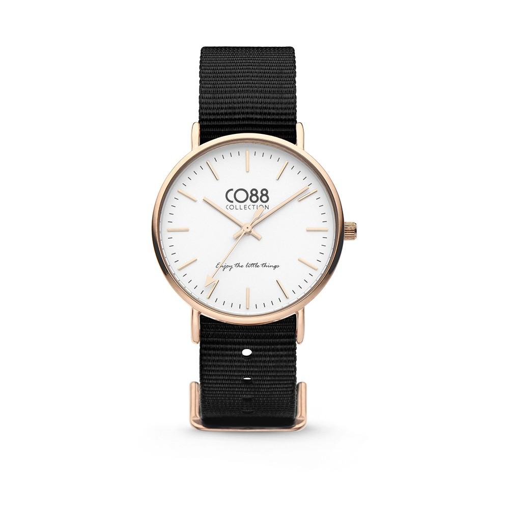 CO88 Collection 8CW-10022 - Horloge - Nato nylon - zwart - 36 mm
