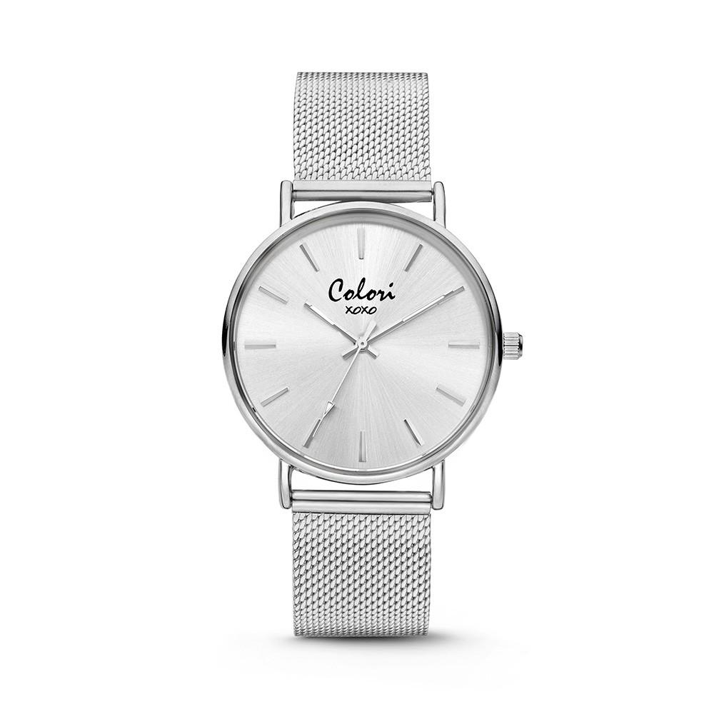 Colori - XOXO - 5-COL446 - Horloge - Mesh band - zilverkleurig - 36 mm