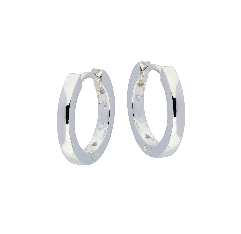 Zilveren klapcreolen - vierkante buis 2 mm  107.0072.16
