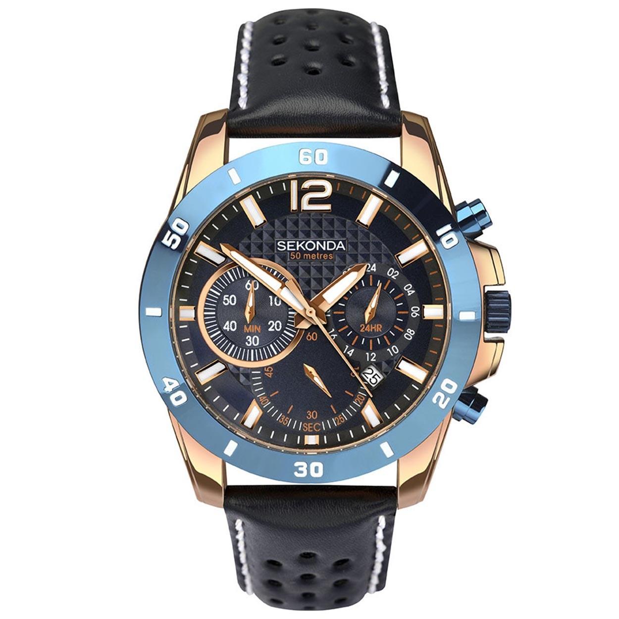 Sekonda horloge SEK.1489 Heren Chrono Roségoud SEK.1489 Herenhorloge 1