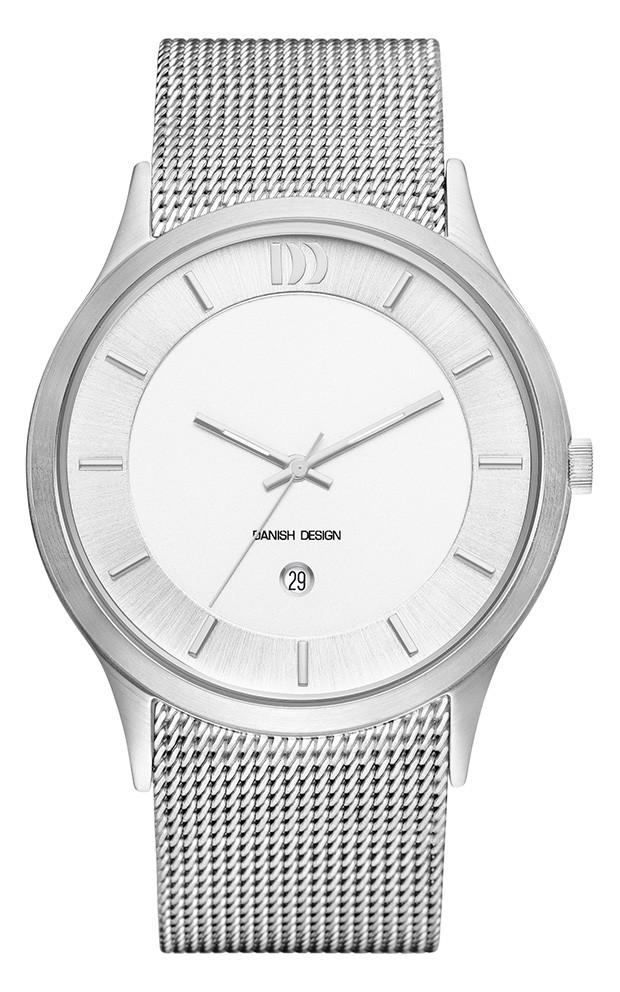 <p><strong>Danish Design Herenhorloge</strong> Staal IQ62Q1026. Stijlvol vormgegeven, stalen herenhorloge uit de Danish Design collectie. Het model is voorzien van een wit-/zilverkleurige wijzerplaat met mineraal glas. Het horloge is spatwaterdicht, de do