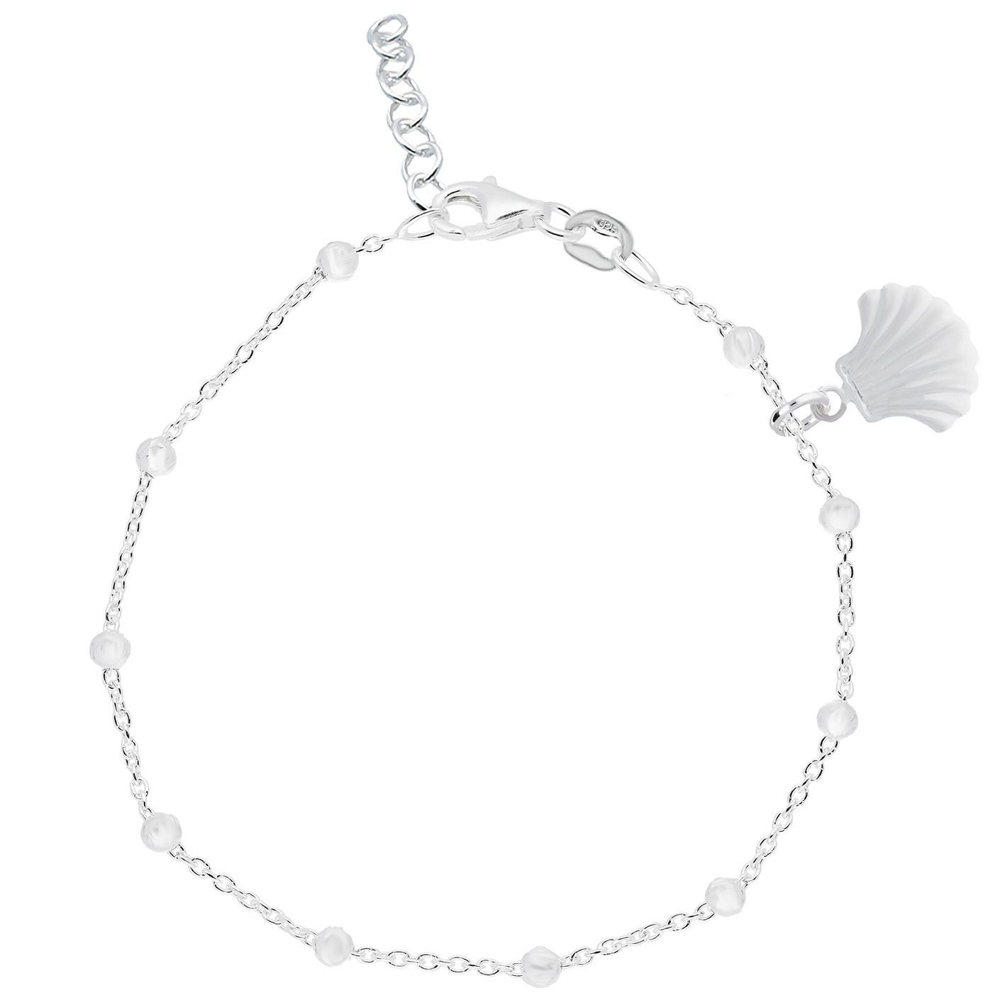 Lilly 105.6416.22 Enkelbandje Schelp zilver 18-22 cm