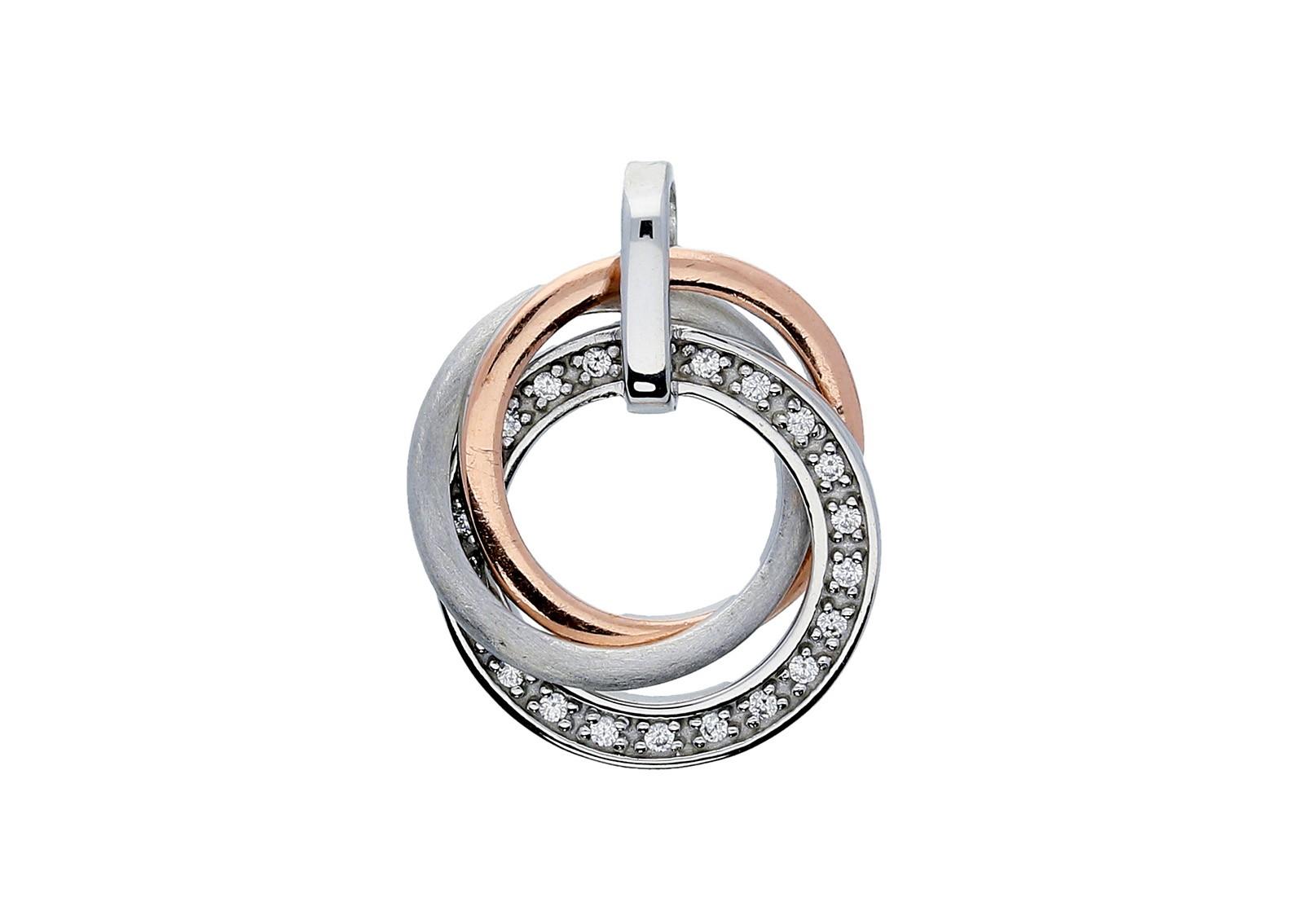 Elegance Zilveren Hanger Bicolor gerhodineerd zirkonia 120.5414.00
