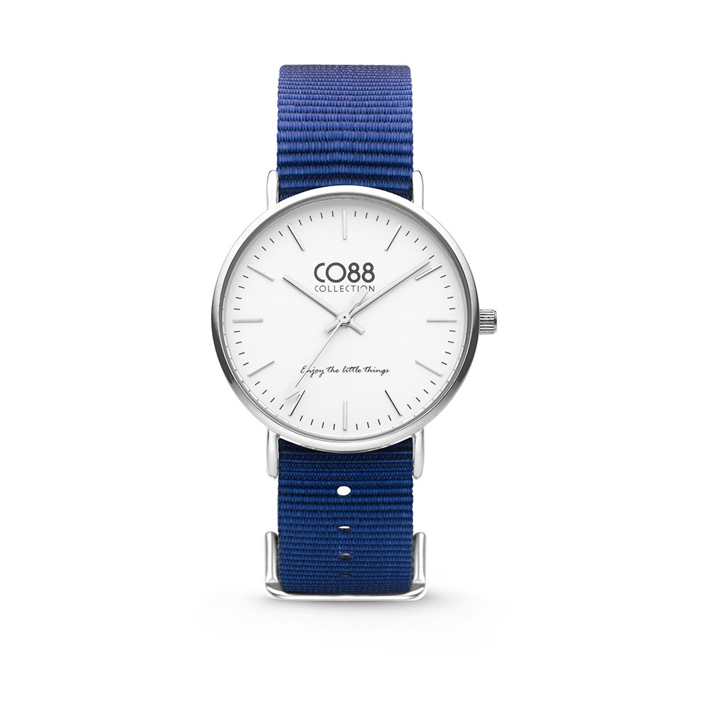 CO88 Collection 8CW-10016 - Horloge - Nato nylon - donker blauw - 36 mm
