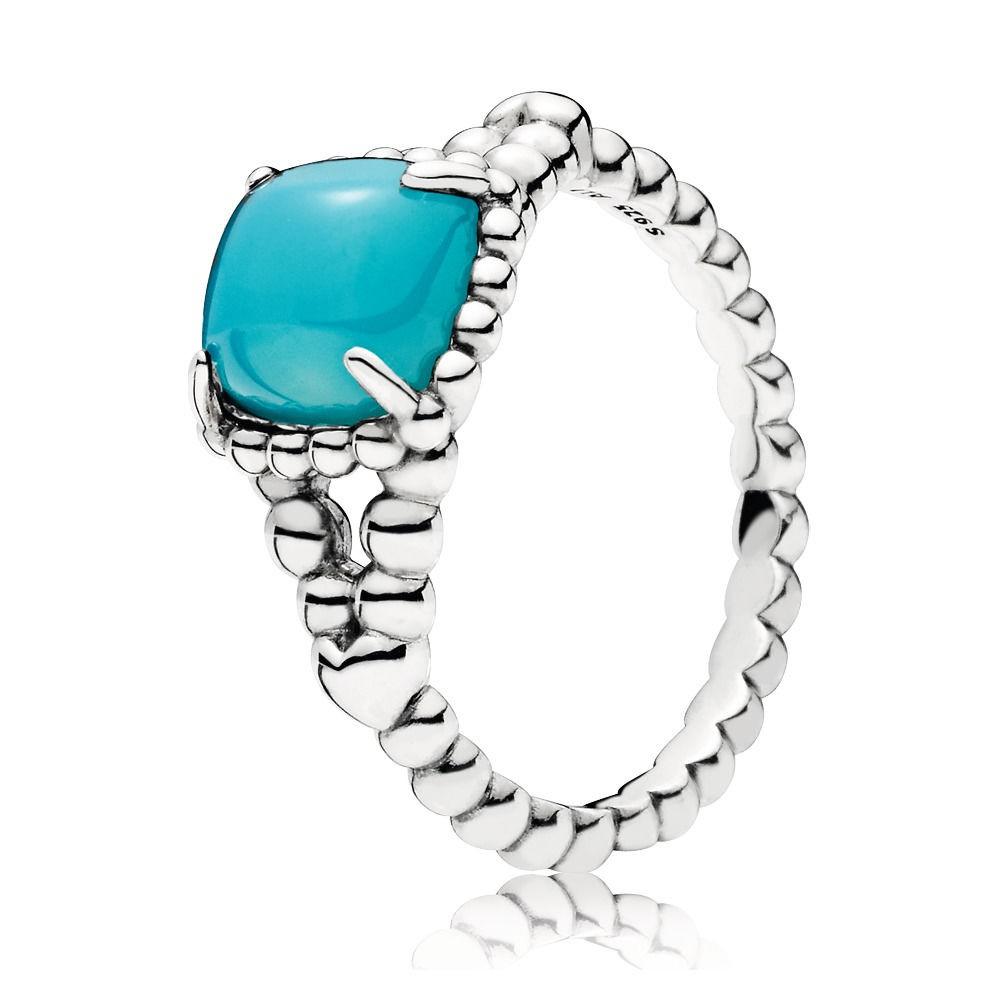 Pandora Ring 197188NSC zilver Blue Vibrant Spirit Maat 54