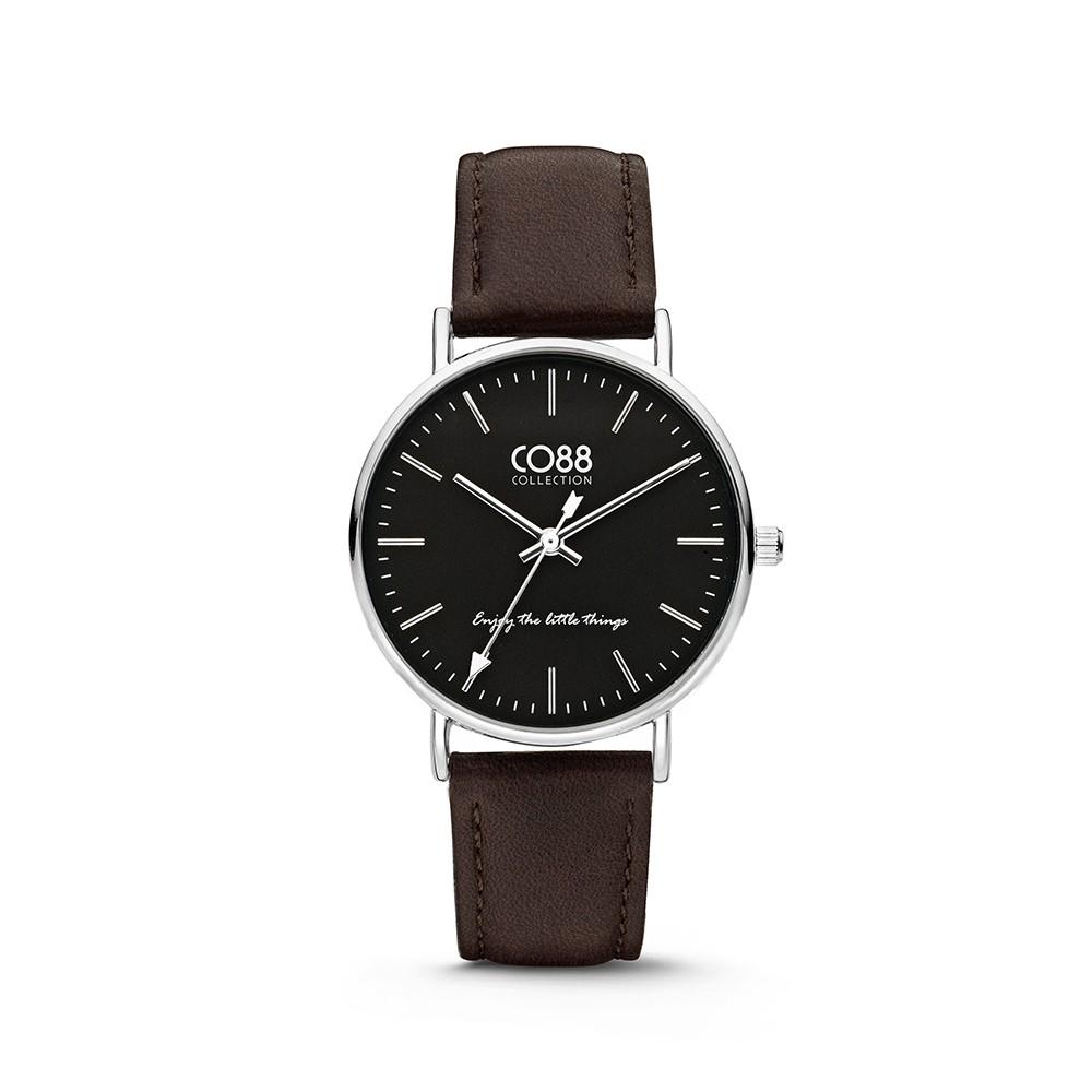 CO88 Collection 8CW-10006 - Horloge - Leer - zwart - 36 mm