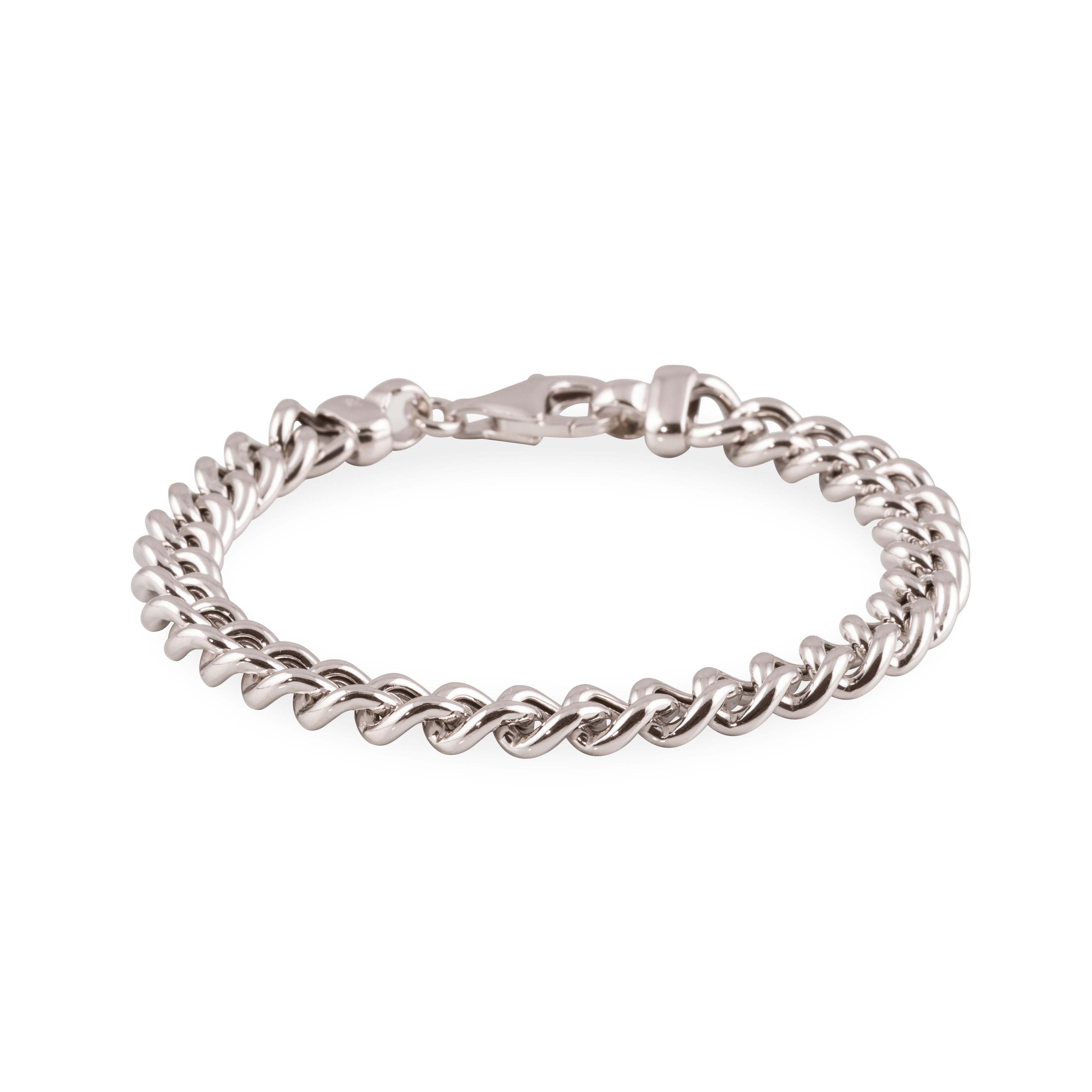 Zilveren schakelarmband best basics 20 cm - gourmetschakel - 8 mm - gerodineerd 104.1255.20