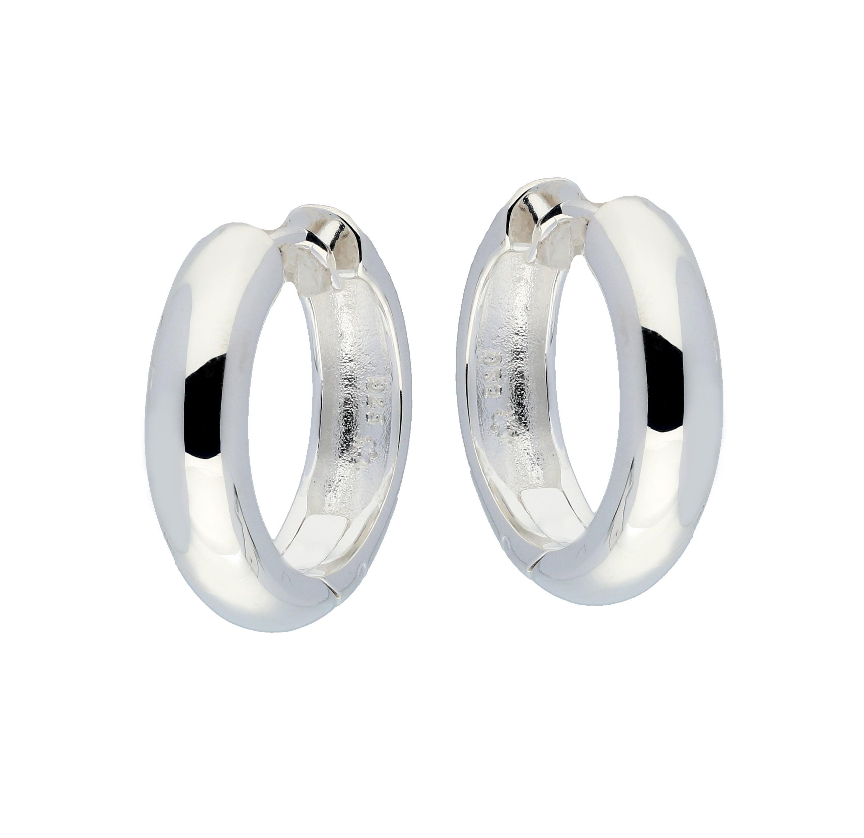 Zilveren klapcreolen - ronde buis 5 mm  107.0069.20
