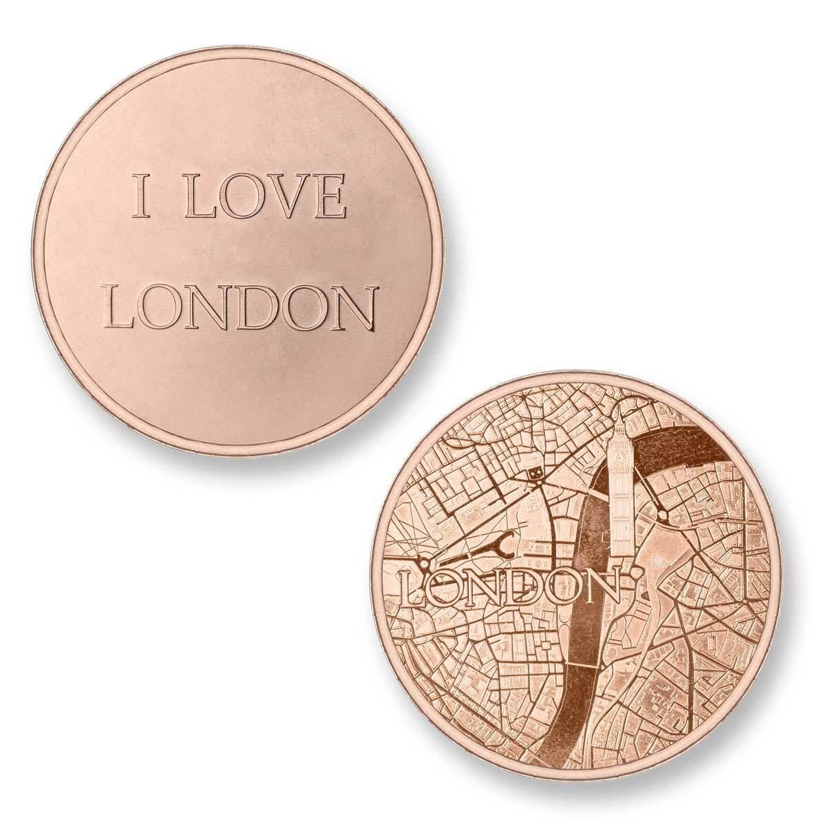 Mi Moneda LON-02 Del Mundo - London rosekleurig Large