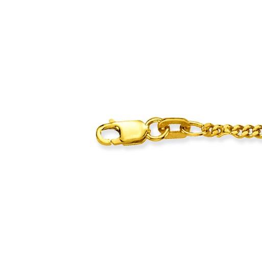 Glow 201.0745.68 Gouden Ketting Gourmet 45 cm 2.1 mm breed