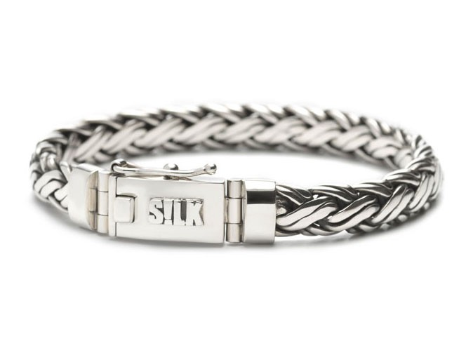 Silk Armband 346-19 zilver 'Shiva' 19 cm