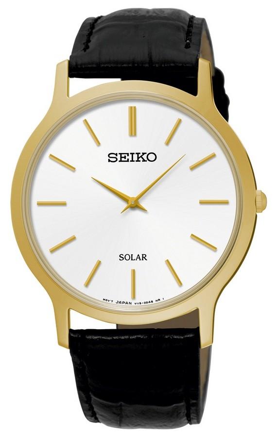 Seiko Herenhorloge Solar Goudkleurig SUP872P1