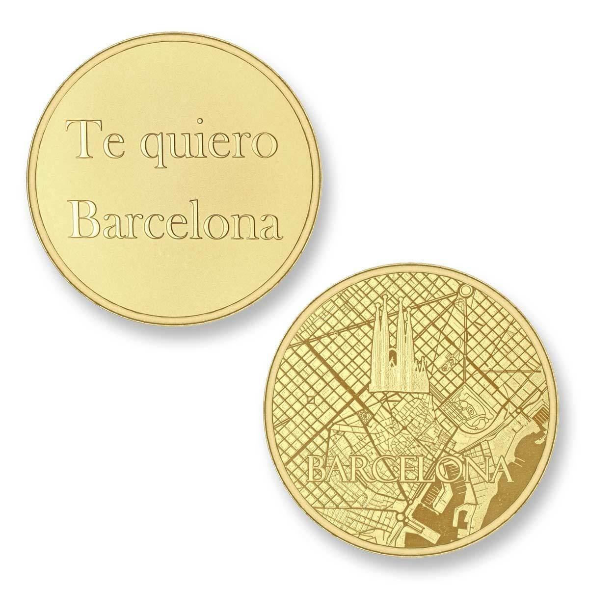 Mi Moneda BAR-02 Del Mundo - Barcelona goudkleurig Large