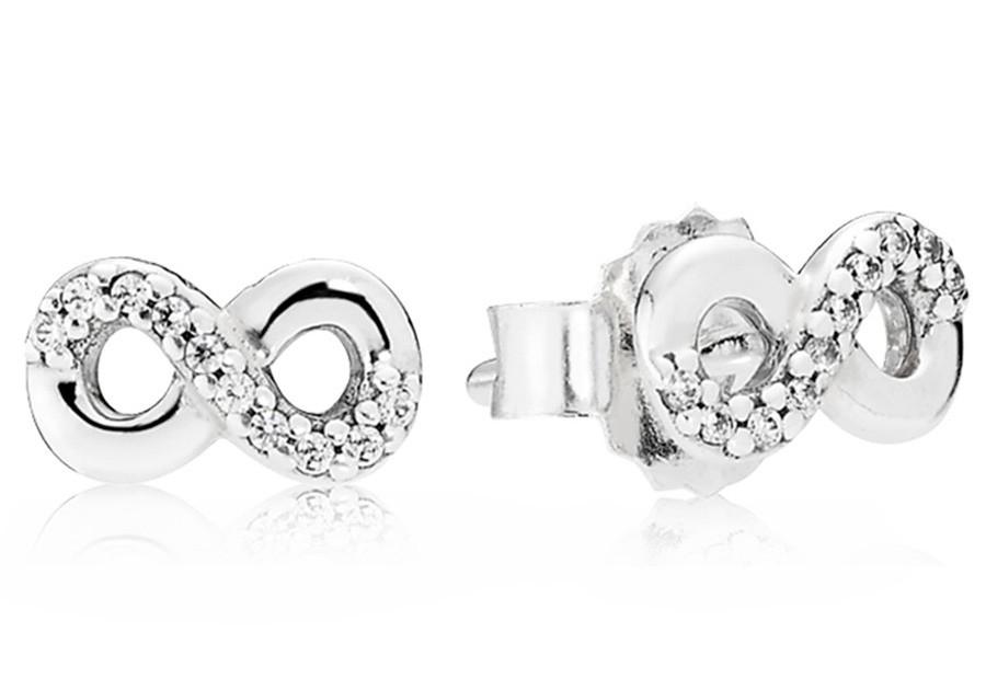 Pandora 290695CZ Oorbellen zilver Infinity Love
