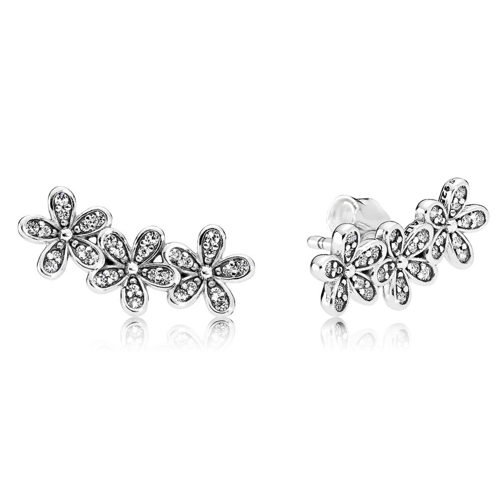 Pandora oorbellen zilver Madeliefjes 290744CZ
