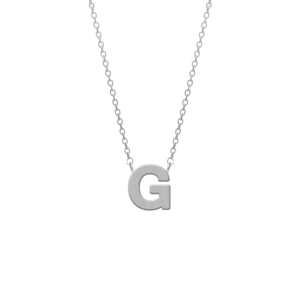 CO88 Collection 8CN-11006 - Stalen collier - letterhanger G 9 mm - lengte 42+5 cm - zilverkleurig