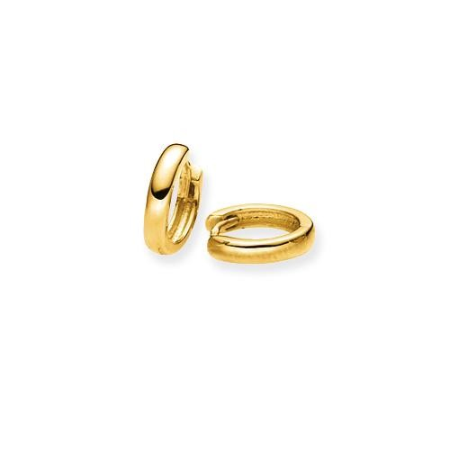 Gouden 207.5080.10 Oorringen gold collection Glanzend - ronde buis - 10 x 2.0 mm