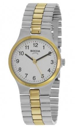 Boccia Dameshorloge Titanium zilver- en goudkleurig 3082-05