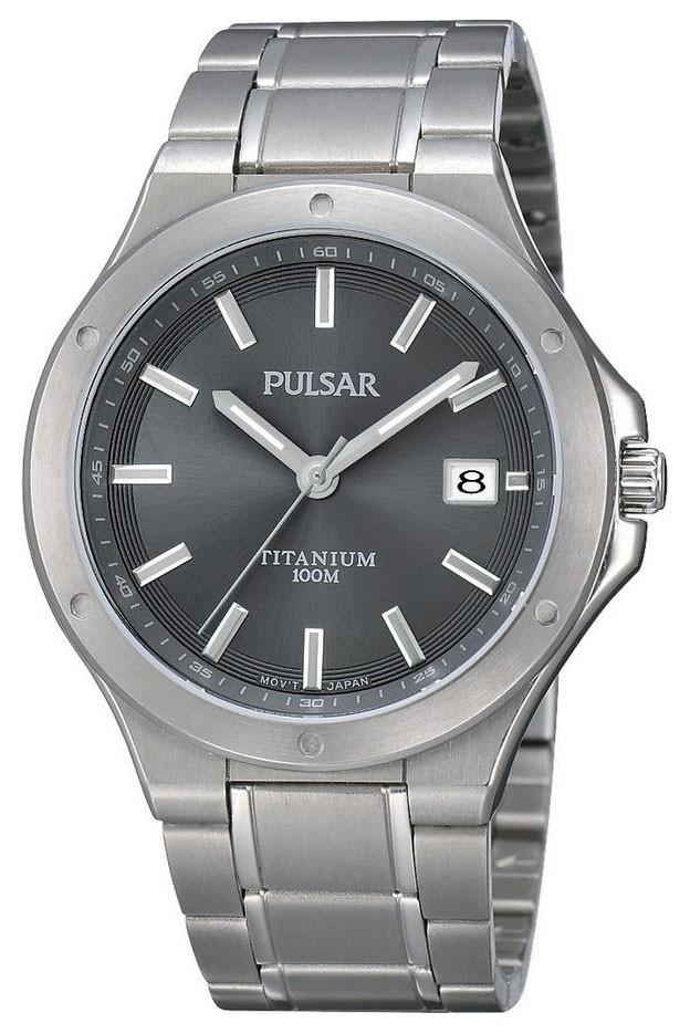 Pulsar Herenhorloge titanium Beschermde kroon PS9125X1
