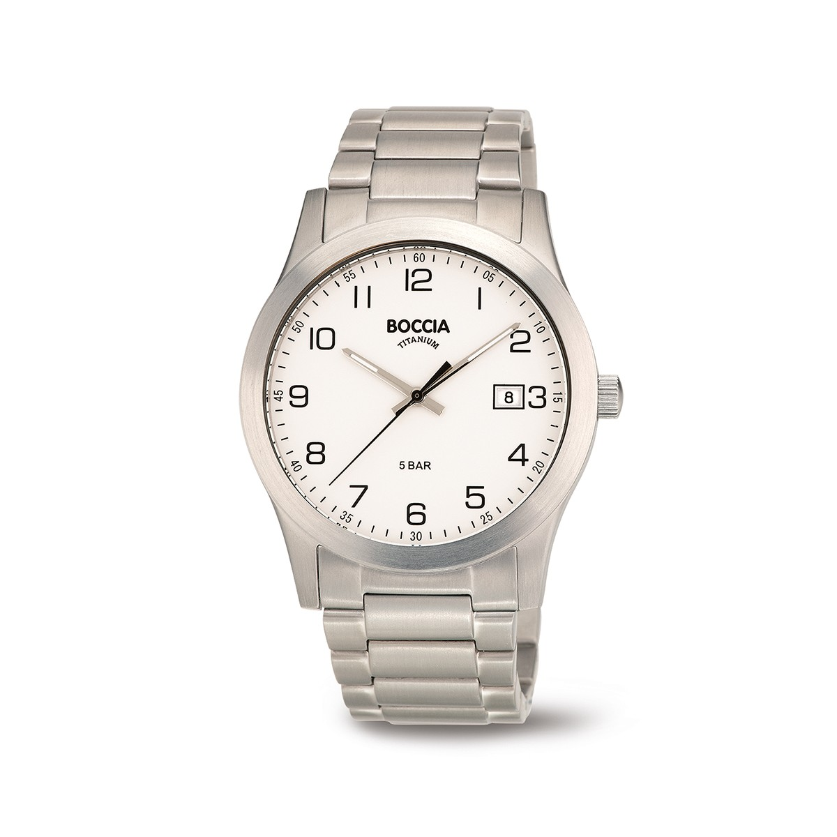 Boccia Titanium 3619.01  horloge - Titanium - Zilverkleurig - 40 mm 1