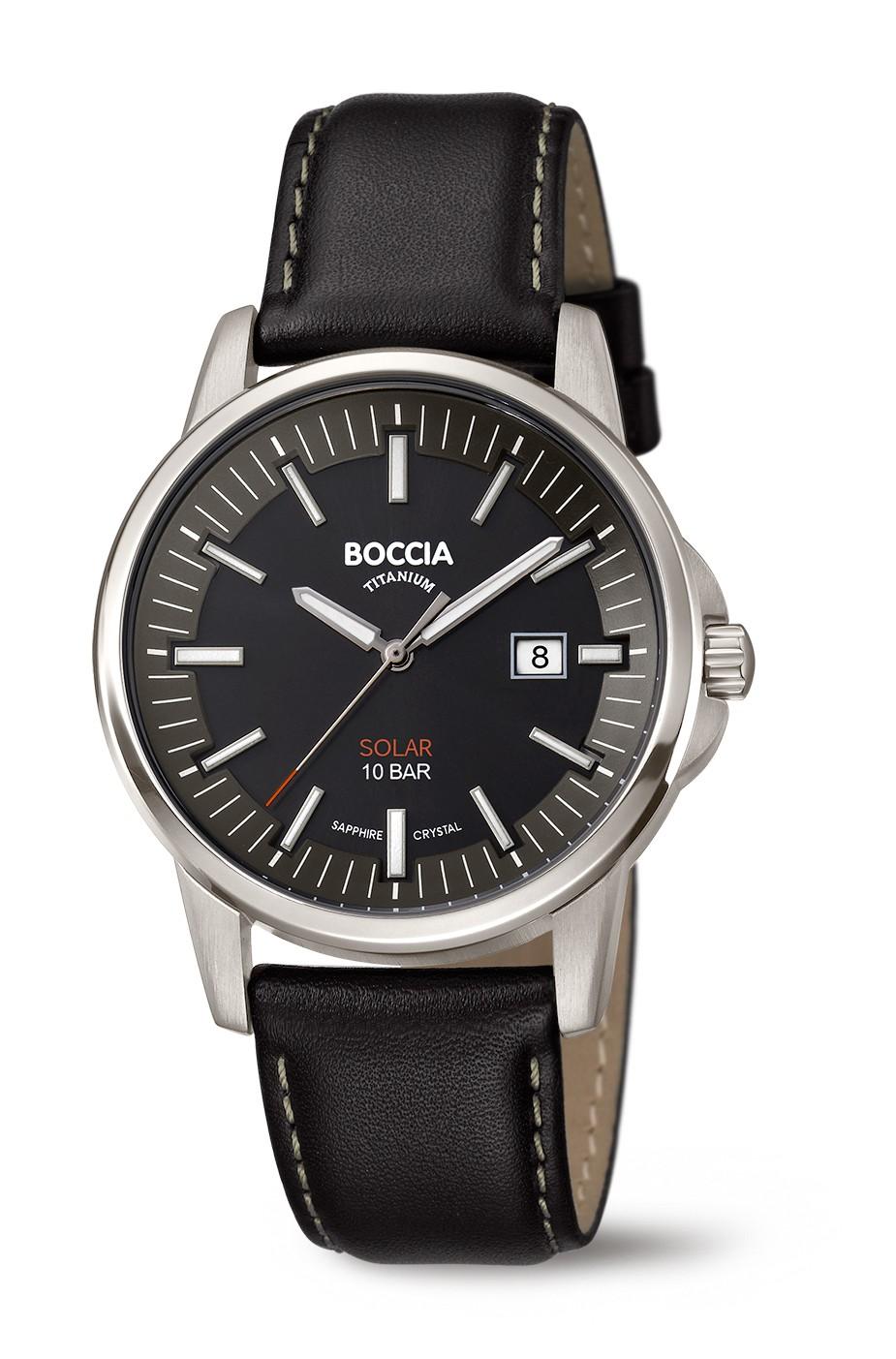 Boccia 3643-02 Horloge Titanium Saffierglas 39 mm 1