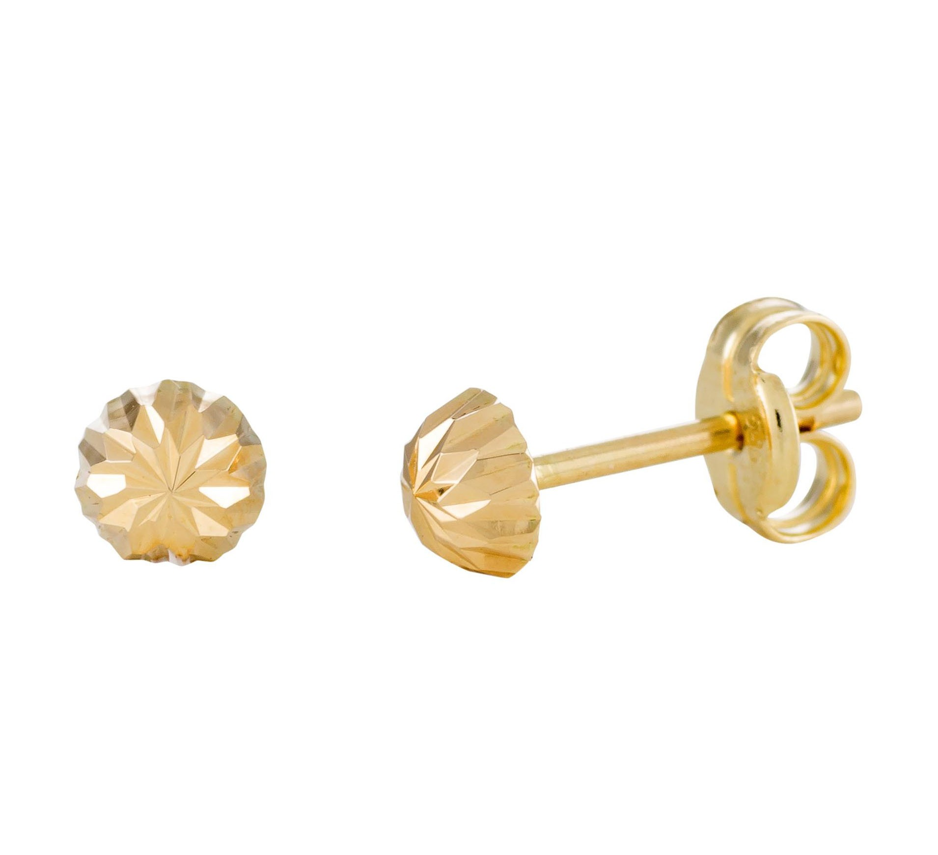 14 Krt Gouden Oorbellen 4.0 mm Gediamanteerd 206.0460.04