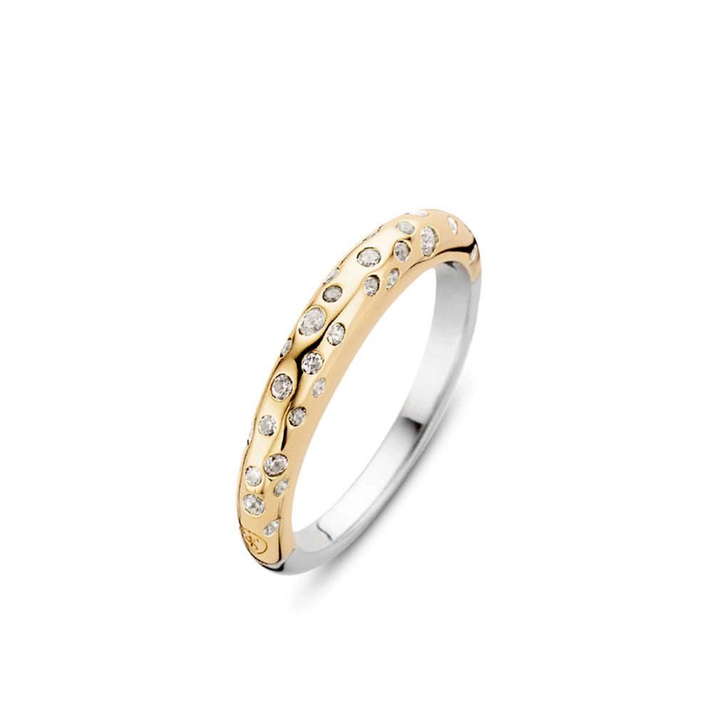 TI SENTO - Milano 12107ZY ring met zirkonia Mt 54 is 17.25 mm