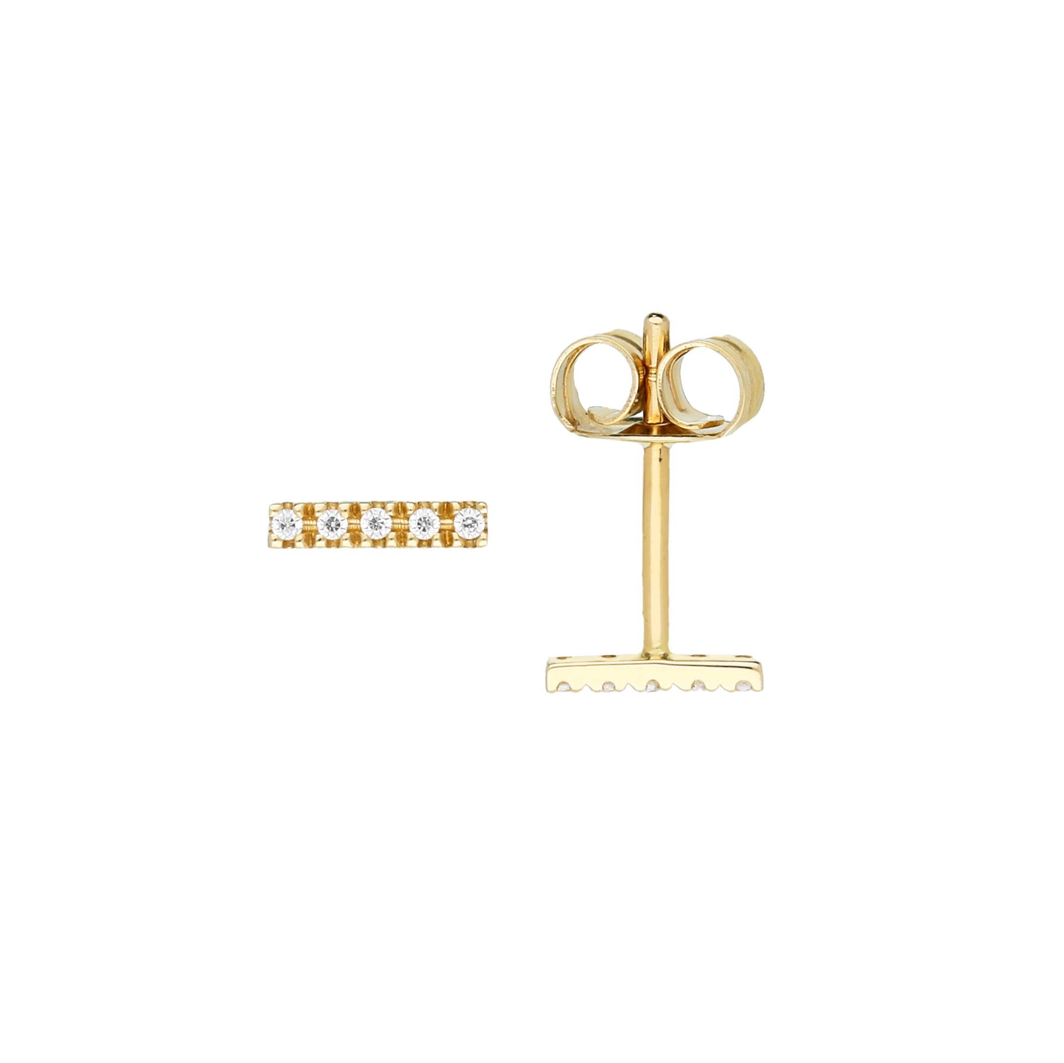 Glow Gouden Fantasieoorknoppen Gold Collection Staafjes - Zirkonia 206.2035.00