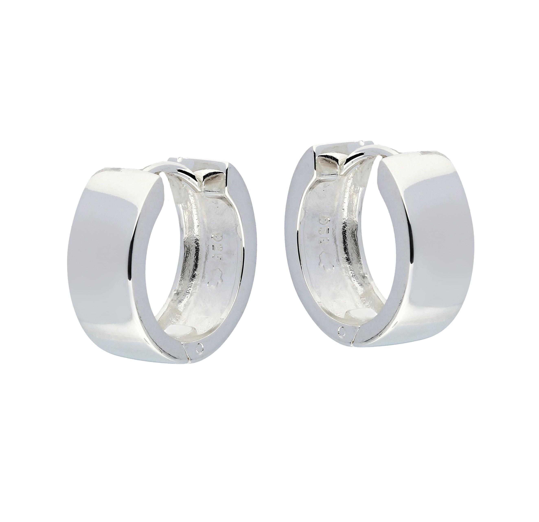 Zilveren 107.0075.14 oorringen - vierkante buis 6 mm