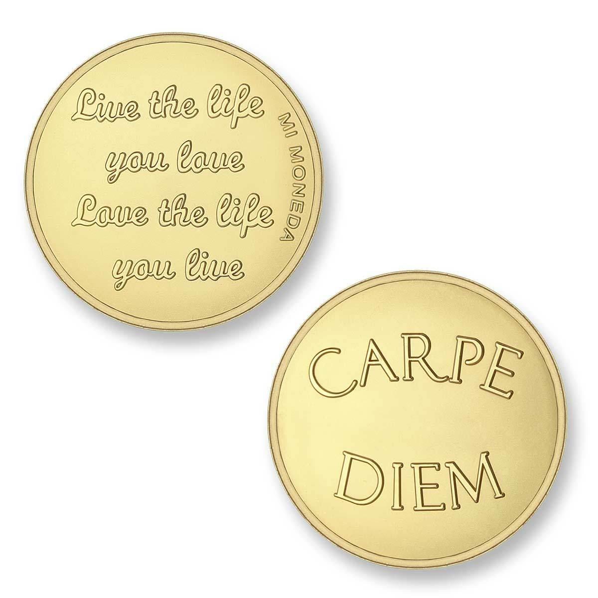 Mi Moneda CAR-02 Love - Carpe Diem goudkleurig Medium