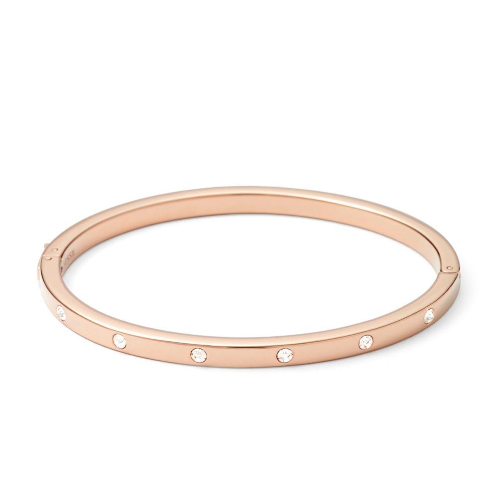 Fossil JF00843791 Stalen zirkonia armband