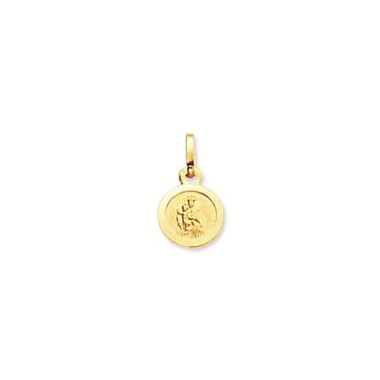 Gouden scapuliermedaille religious 8.0 mm - rond 247.0002.08
