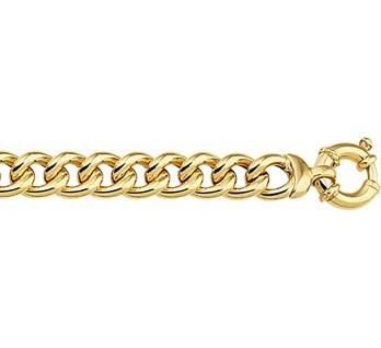 Zilgold gourmet-armband goud met zilveren kern 19 cm 50.00102