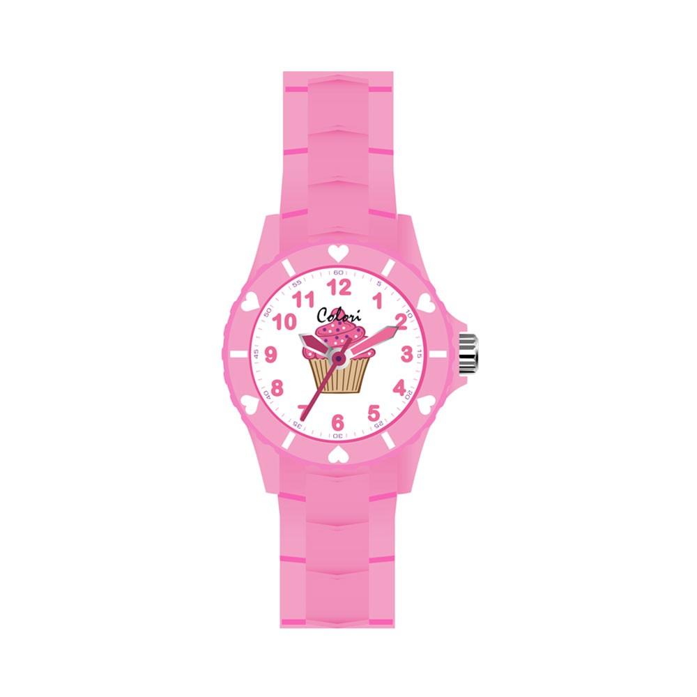 Colori 5-CLK066 - Horloge - Nylon band - Paars - Libelle - 28 mm