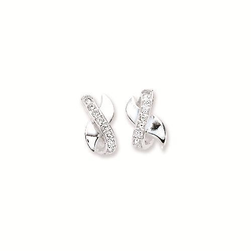 Zilveren Oorbellen met zirconia 106.0856.00