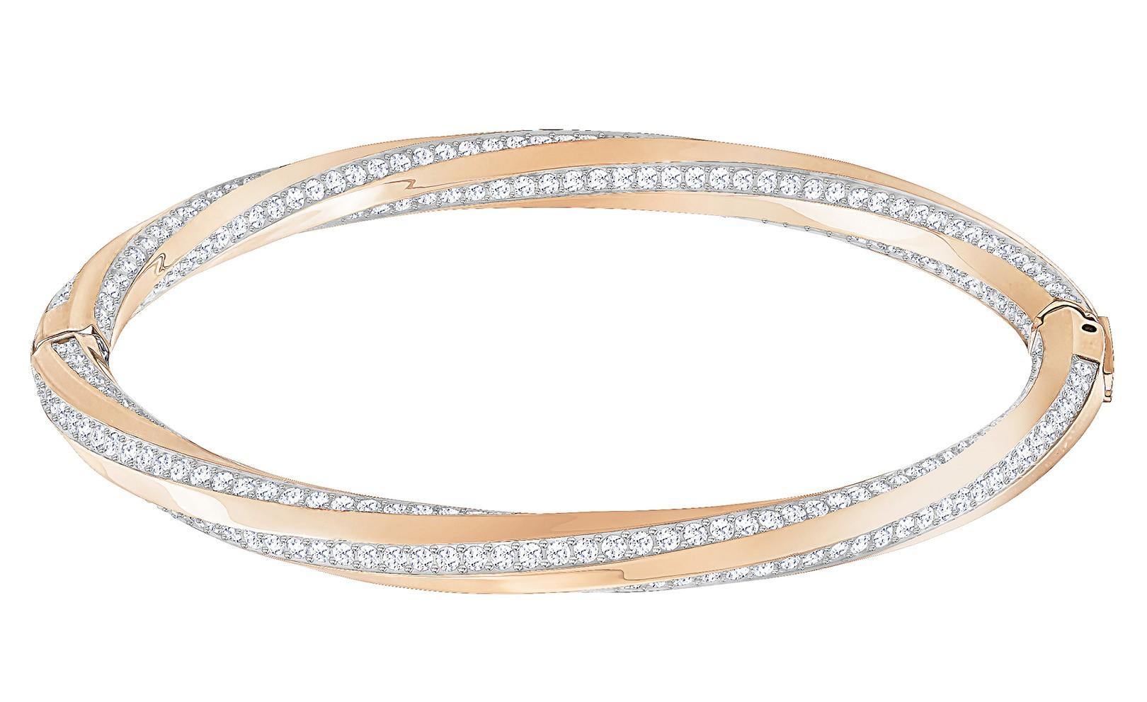 Swarovski Armband Hilt Bangle rosékleurig M 5289409