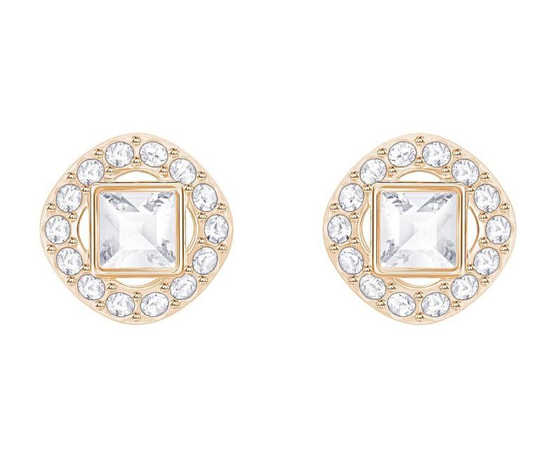 Swarovski Oorbellen 'Angelic Square' White/Rosegold 5352049