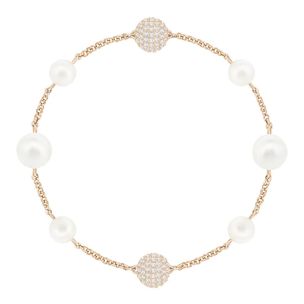 Swarovski Armband Remix Collection Crystal Pearl Rosegold 17,5 cm 5365738