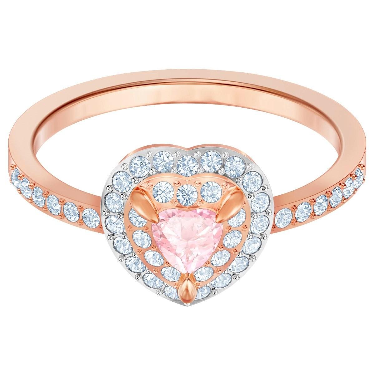 Swarovski 5439315 Ring One rosekleurig-roze Maat 55