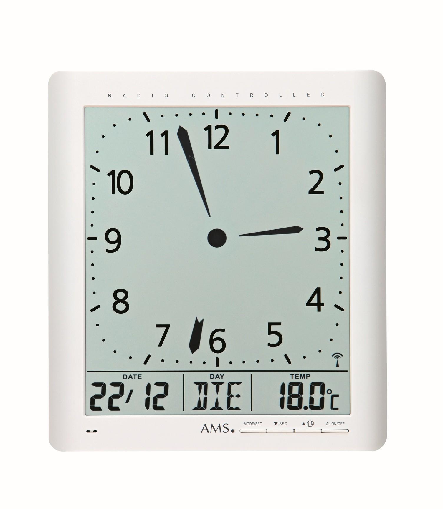 AMS 5896 Klok Radio-controlled Digitaal/Temperatuur