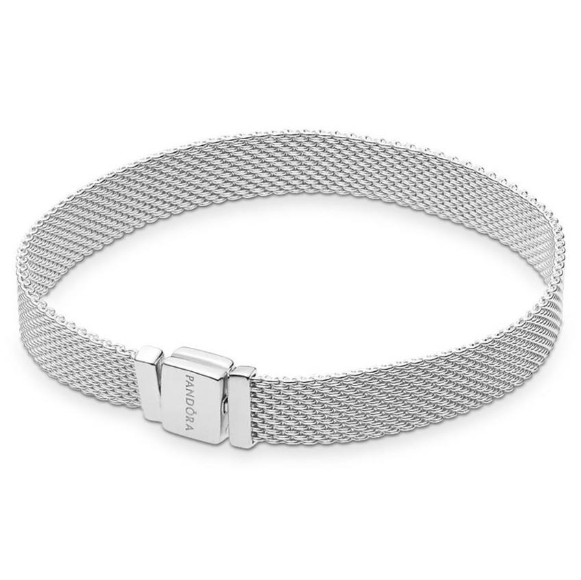 Pandora Reflexions 597712 Armband Sliding Mesh zilver 18 cm