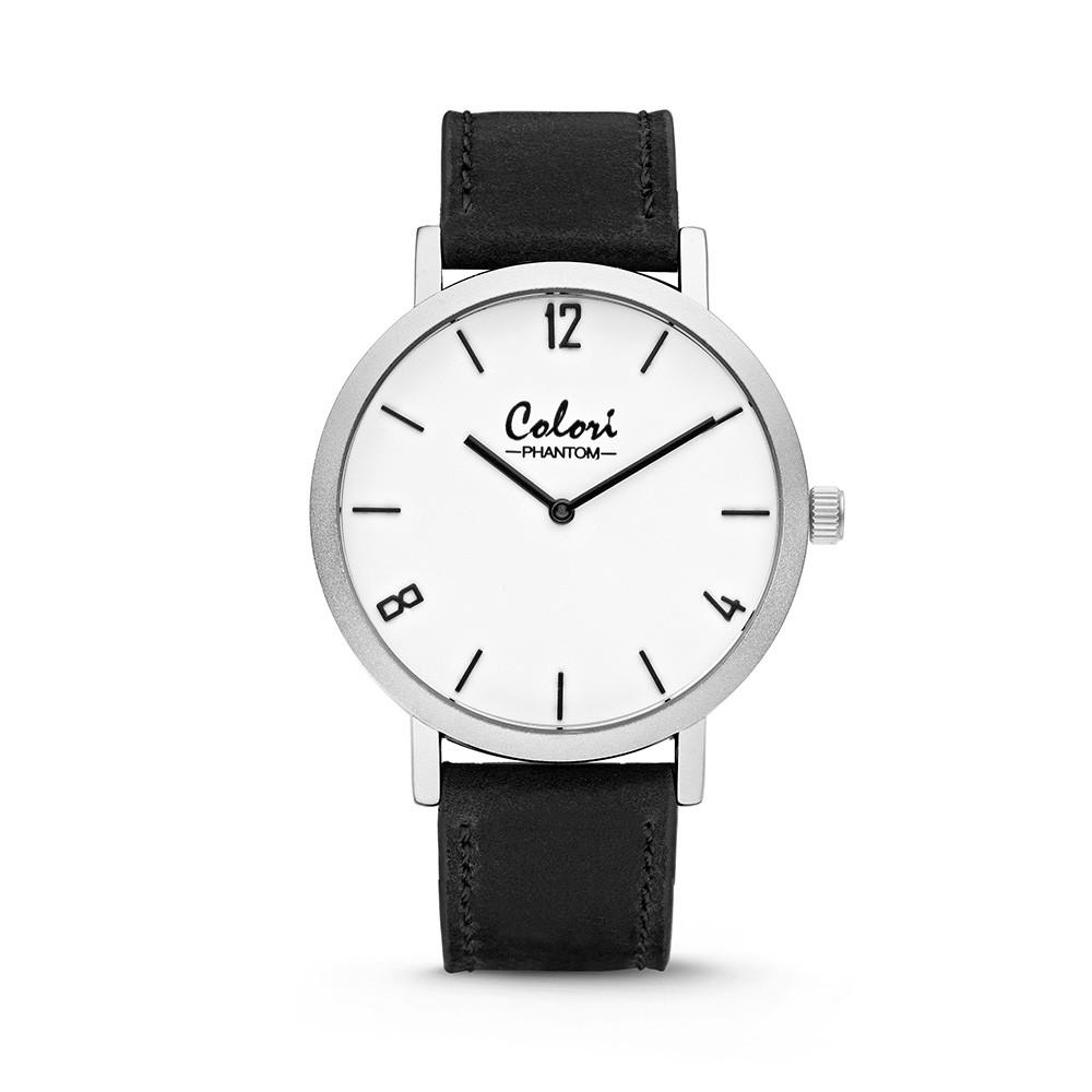 Colori - Phantom - 5-COL442 - Horloge - leren band - zwart - 42 mm